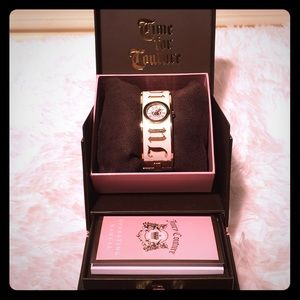 Juicy Couture White/Gold Bangle Watch